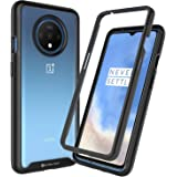 Golden Sand for OnePlus 7T Back Cover Latest Drop Tested Shock Proof Transparent Armor Full Body Case for 1+7T Mobile Cover/OnePlus 7T Phone, Black