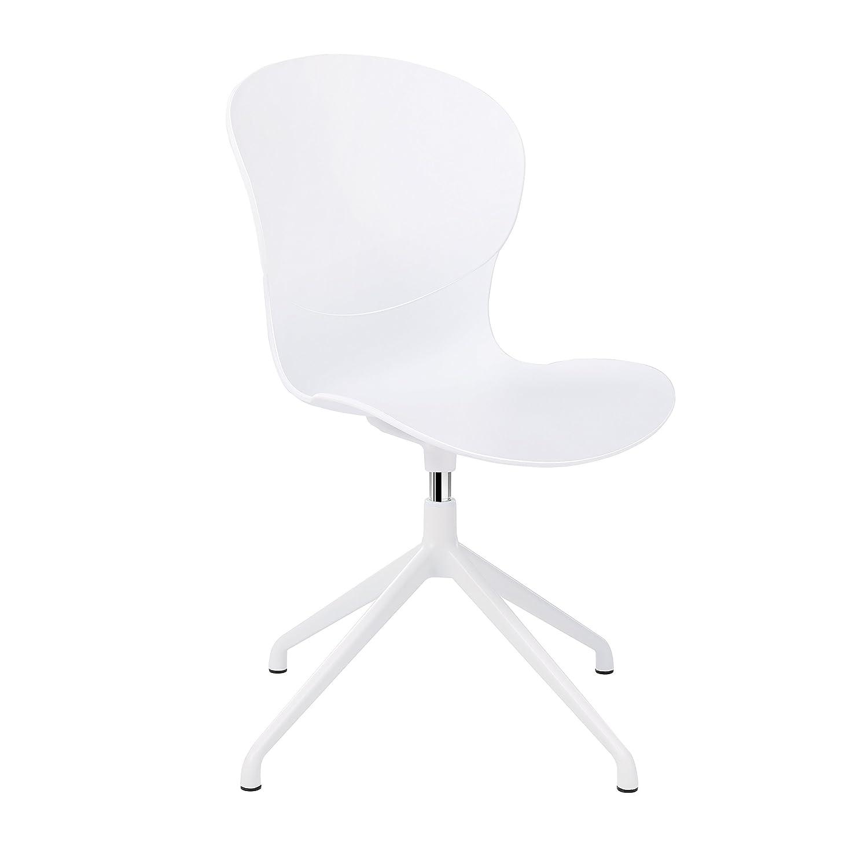 De CourbéPieds Songmics Loisirs Chaise Sur Dossier AluminiumBlanc Pivotant Ldc54wt Stables En ModerneBureau Fauteuil 360°Avec yvwON8nm0