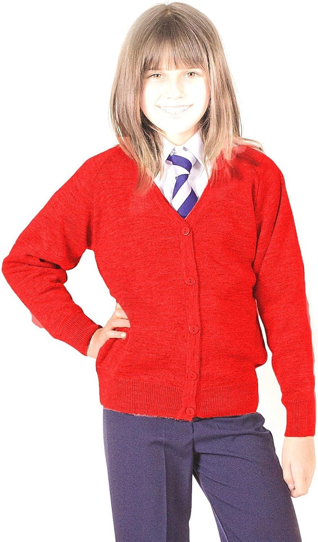Kids Girls Long Sleeve Boyfriend Open Cardigan Jumper Age 7 8 9 10 11 12 13 Year
