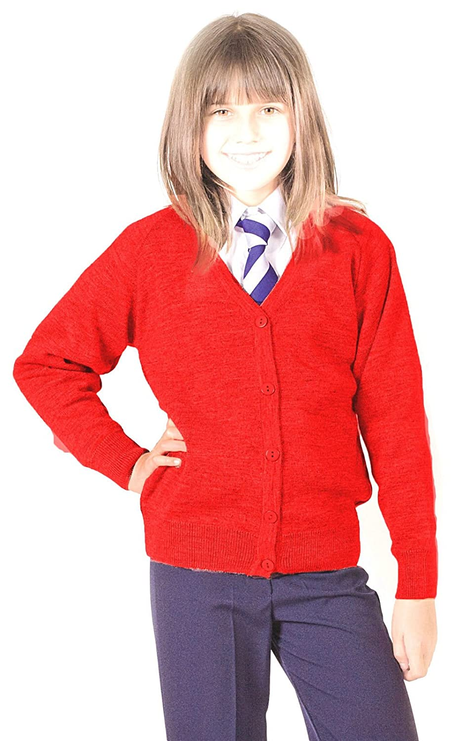 Girls School Cardigan Premium Wool Mix Knitted Cardigan School Uniform School Wear