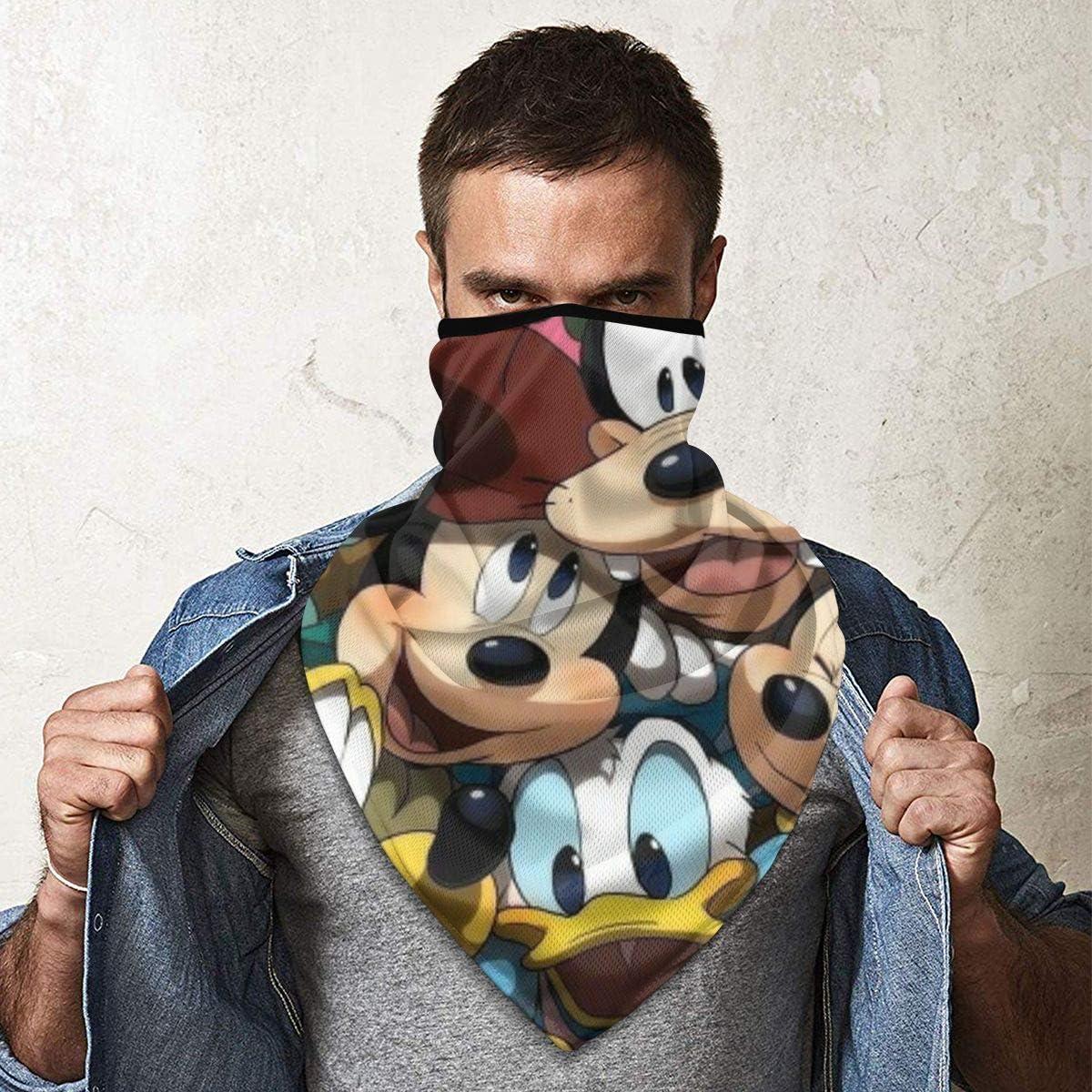 fascia per capelli multifunzionale Bandana per cappello bandana larga sciarpa Grtswp Donald Duck Mask Bandana