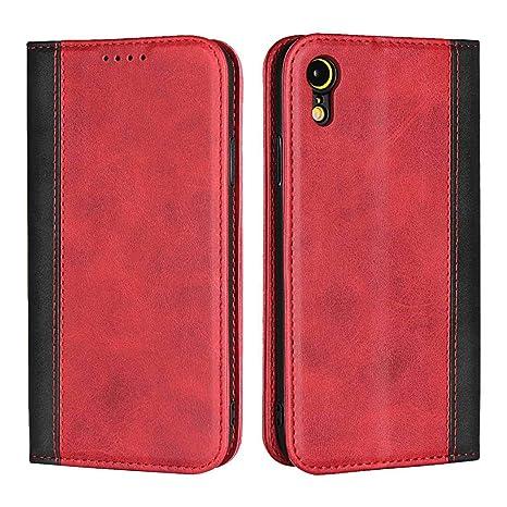 coque rabat iphone xr rouge