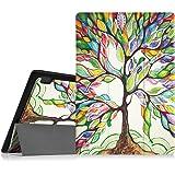 Fintie Lenovo Tab 2 A10 / Tab 3 10 Business Funda - Ultra Slim Smart Case Funda Carcasa con Stand Función y Auto-Sueño / Estela para Lenovo Tab2 A10-70F / Tab 2 A10-70L / Tab 2 A10-30 / Tablet2-X30F / Tab 3 10 Business 10.1 Inch Tablet, Love Tree