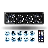 Lettore MP3 auto, Mekuula Autoradio Bluetooth ricevitore Car Radio Station 4x60W 1 DIN Stereo Car Player Supporta FM / USB / Micro SD / AUX / Bluetooth / Telecomando