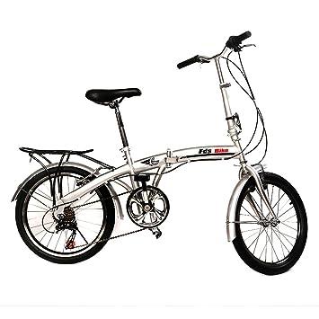 20 Folding Bike 6 Speed Bicycle Fold Storage Silver