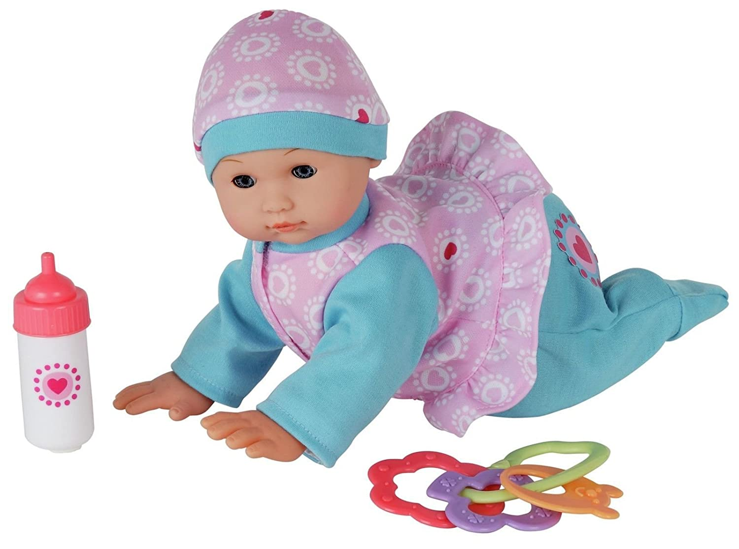 Chad Valley Crawling Doll With Accessories