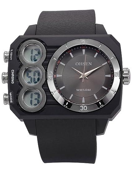 AMPM24 OHS237 Reloj Hombre Cuarzo Rectangular de Goma