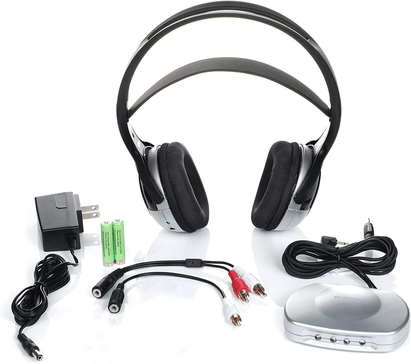 J3 TV920 Listener Rechargeable Wired Infrared Headphone For TV