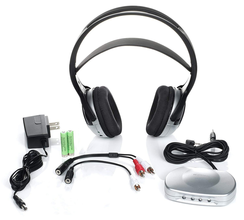 J3 TV920 Listener Rechargeable Wireless Infrared Headphones for TV Listening System | Cordless Over Ear Headphone