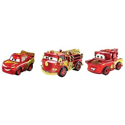 Disney Cars GKG22 Pixar's Cars Mini Racers Rust-eze Wraps Series 3-Pack, Multicoloured: Toys & Games