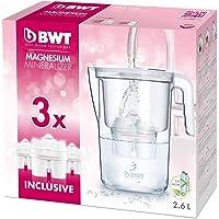 BWT Vida Manual – Jarra filtradora de agua con magnesio + Pack 3 filtros jarra de agua, 2.6 L