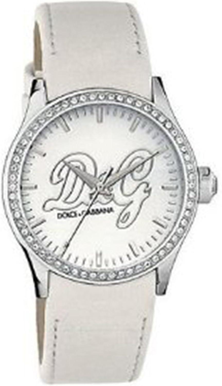 Dolce & Gabbana DW0269 - Reloj de Mujer de Cuarzo, Correa de Piel Color Blanco
