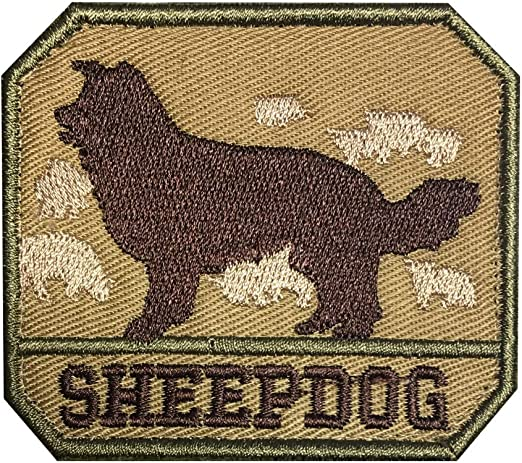 Morton HomeSheepdog Hook and Loop Patch Tactical Morale Military Combat Armband Clothing Badge for Jackets Jeans Hat Cap ACU