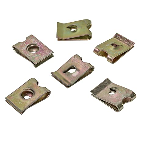 15 X Universal Metal Soporte grapas abrazadera tuerca 16,6 x 11,2 Uni
