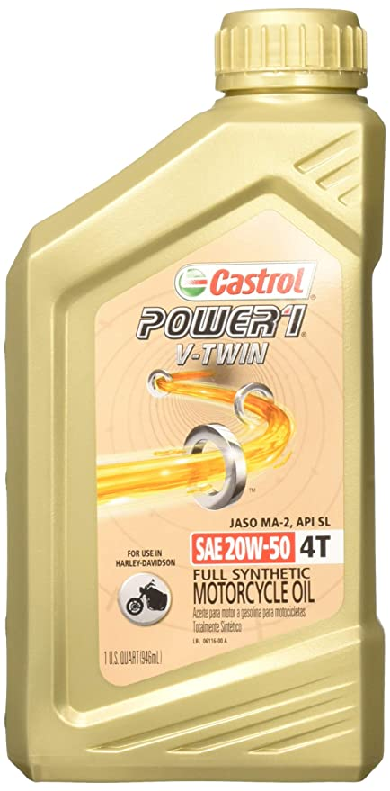 Castrol Power RS V-Twin 20W-50 Full Synthetic 4-Stroke Motorcycle Oil