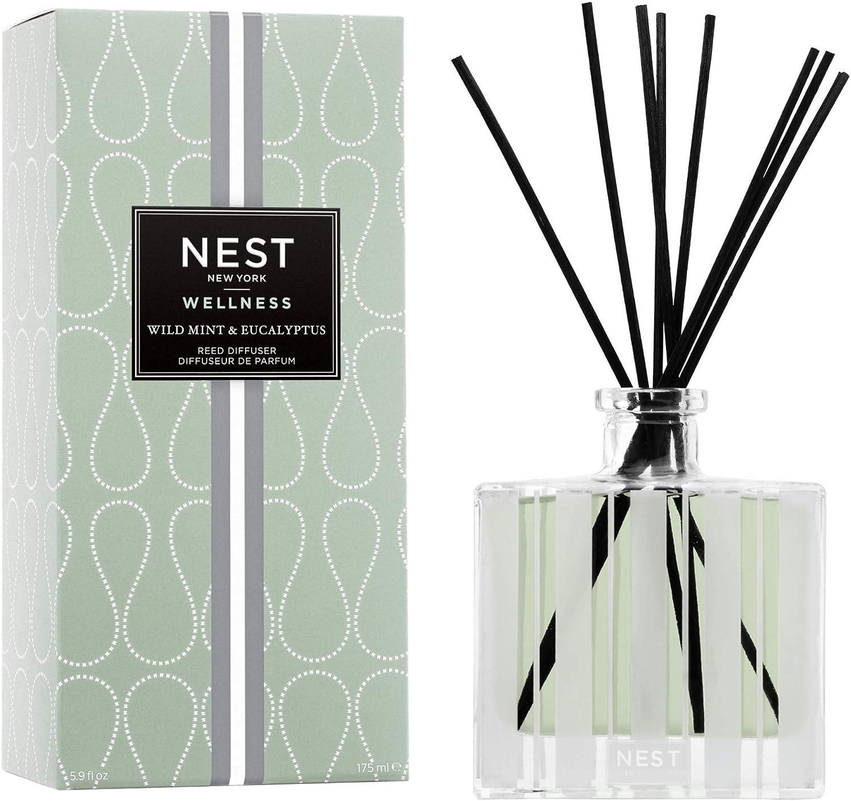 NEST Fragrances Wild Mint & Eucalyptus Reed Diffuser