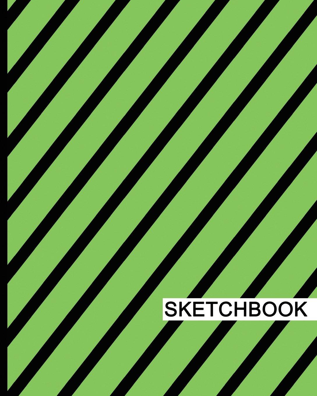 "Download Sketchbook: 8"" x 10"", Drawing Sketchbook, Unlruled Notebook, Drawing Paper Pad, Stripes (Green) - (Sketch book) pdf epub"