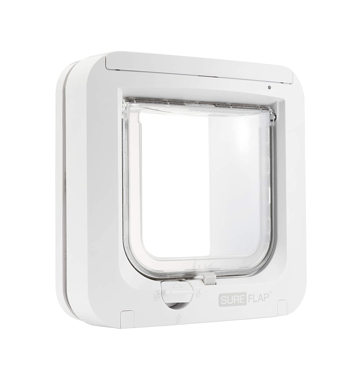 SureFlap - Sure Petcare Microchip Cat Flap, White, Scans Pet's ID Microchip on Entry