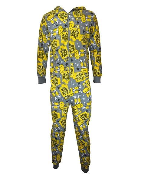 Diseño de los Simpsons pijama, para hombre Homer Wondrous Wall pijama tuerca de