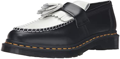 2e2c47255c1 Dr Martens Women.s Adrian Smooth Black   White Tassel Loafers