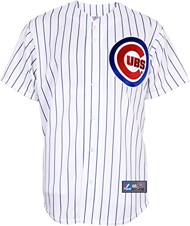 Majestic MLB Chicago Cubs White Pinstripe Replica Baseball Jersey