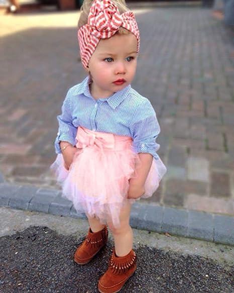 2PCS Toddler Kid Baby Girl Lace Tops+Tutu Skirt Dress Princess Party Outfits Set