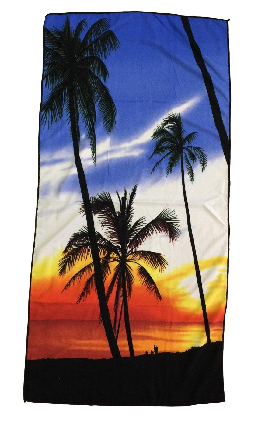 Ducomi Honolulu Asciugamano Ideale per Vacanze 70 x 140 cm Telo Mare da Spiaggia Massima Assorbenza e Morbidezza M-02 Spiaggie e Piscina