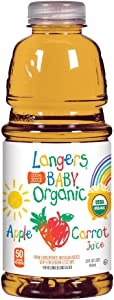 Langers Baby 100% Organic Apple Carrot Juice, 32 Fluid Ounce (Pack Of 6)