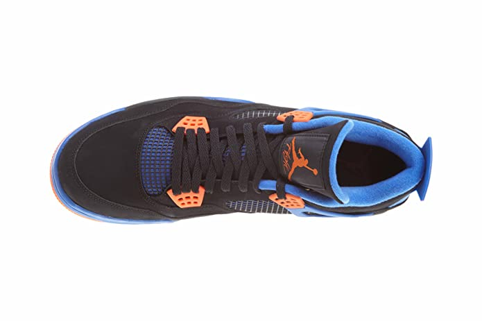 100% authentic cda89 535b0 Amazon.com   NIKE Air Jordan Men s 100% Authentic DS NIB 4 IV Retro Cavs  2012 308497-027 Black Safety Orange Game Royal Leather US11   Basketball