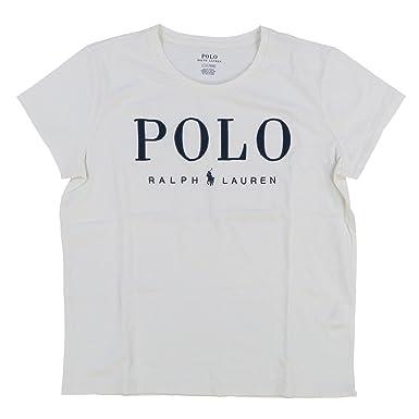 2e97c12bf9b718 Ralph Lauren Polo Damen Rundhals Statement Shirt Vintage Weiß Größe ...