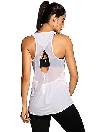 CRZ YOGA Deportiva para Mujer sin Mangas Yoga Camiseta de Tirantes   Amazon.es  Ropa y accesorios c140305777216