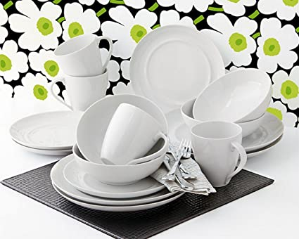 Over u0026 Back Oporto 16 pc Porcelain Dinnerware Set & Amazon.com | Over u0026 Back Oporto 16 pc Porcelain Dinnerware Set: Over ...