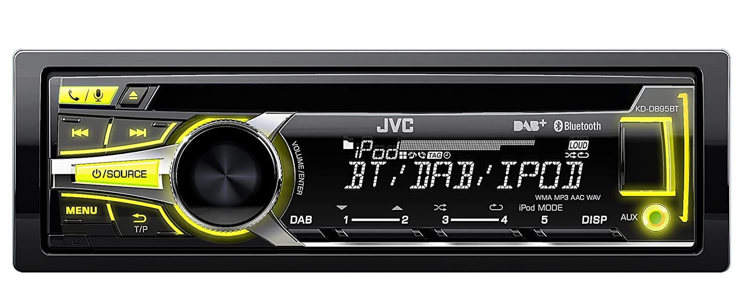 JVC KD-DB95BT CD/MP3 Car Stereo with Front USB/AUX Input and Built In  Bluetooth: Amazon.co.uk: Electronics