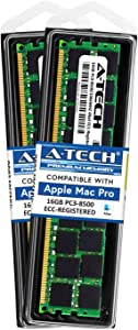 A-Tech for Apple 32GB Kit (2X 16GB) DDR3 1067MHz / 1066MHz PC3-8500 Mac Pro MacPro5,1 MacPro4,1 Mid 2010 Early 2009 MB535LL/A A1289 MC561LL/A Memory RAM