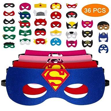 Pitaya Máscaras de Superhéroe, Juguetes para Niños y Niñas , Máscaras para Niños, Kit de Valor de Cosplay de diseño de Fiesta de cumpleaños de ...