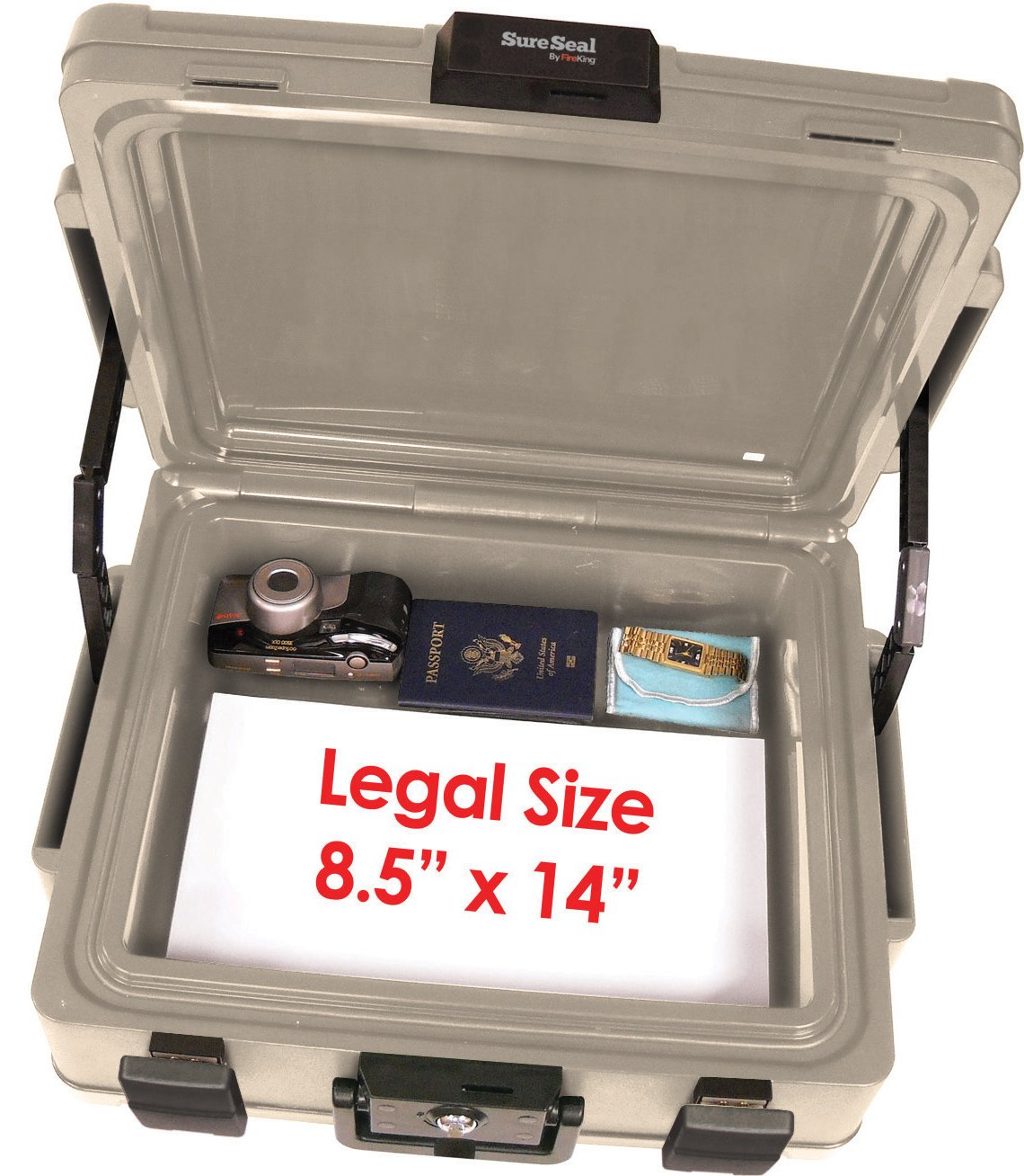 SureSeal by FireKing SS104-A 1 Hour Fireproof Waterproof Safe Chest Fits Legal//Letter Sized Documents,0.38 CU FT Storage Capacity