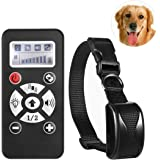 Expersol® Deluxe Remote Dog Training Collar. Highly Advanced Training up to 800m, Automatic No Bark Mode. Humane & Safe Vibration (Black)