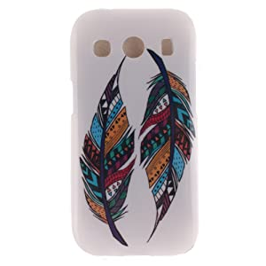 Coque Samsung Galaxy Ace 4 SM-G357, Coffeetreehouse Housse Etui Protection Full Silicone Souple Ultra Mince Fine Slim pour Samsung Galaxy Ace 4 SM-G357, Samsung Galaxy Ace 4 SM-G357 Étui en TPU silicone - Deux plumes