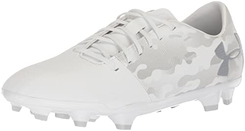 UA Spotlight In, Zapatillas de Fútbol para Hombre, Blanco (White), 41 EU Under Armour