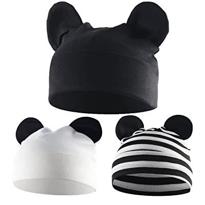 American Trends Toddler Infant Baby Hat Stretchy Kids Beanies Boy/Girl Kawaii Newborn Funky Patchwork Solid Outdoor Earflap Caps