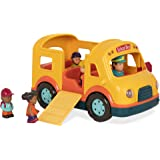 Battat Lights & Sounds School Bus Toy for Toddlers (Includes Driver + 4 Passengers)