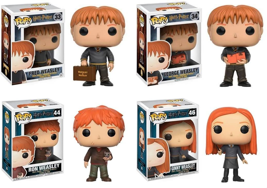 Funko POP! Harry Potter: Fred + George + Ron + Ginny ...