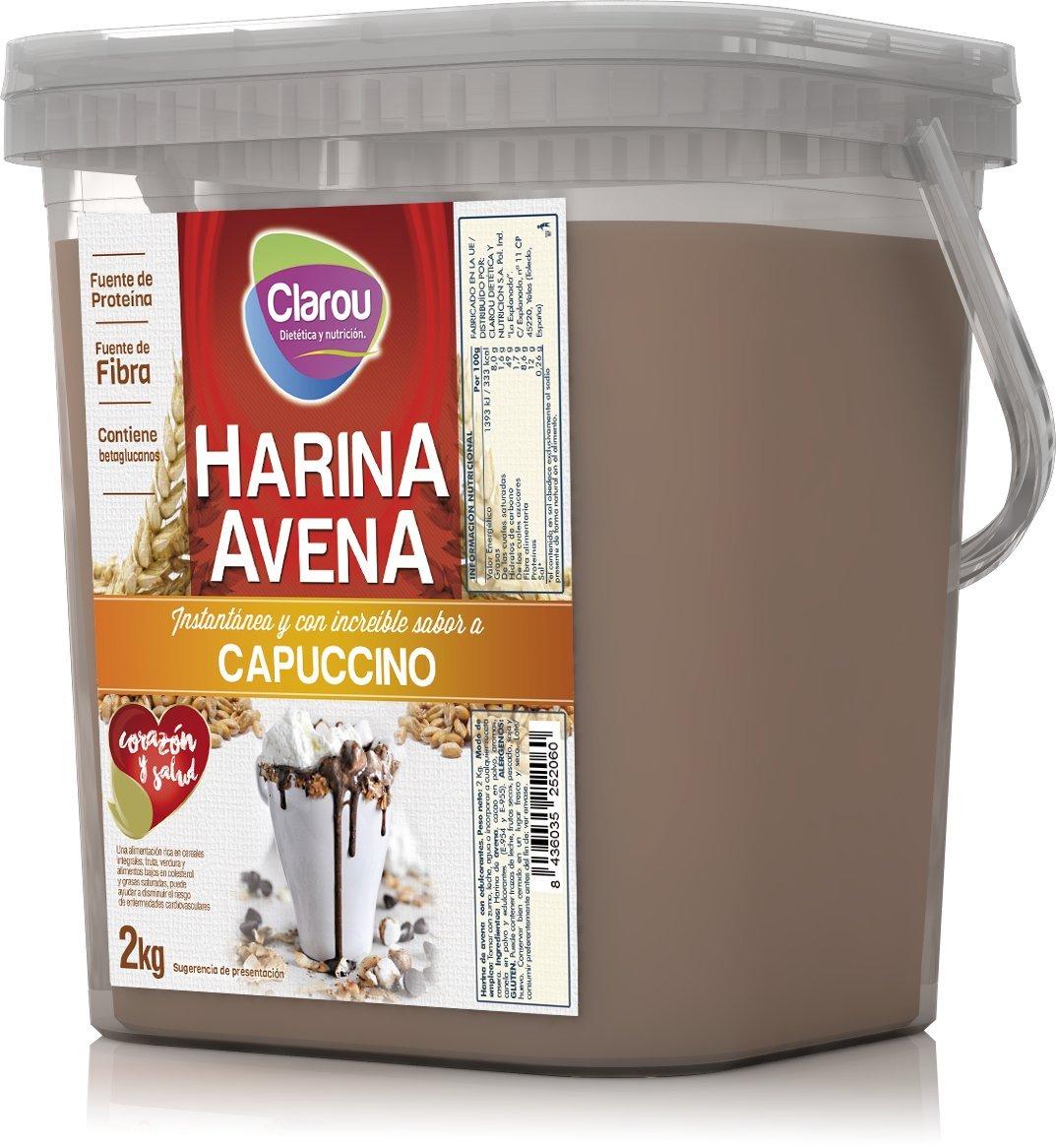 Harina de avena - 2Kg - Sabor Capuchino: Amazon.es: Alimentación y bebidas