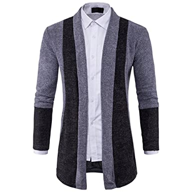 JYJM Herren Long Jacket Herren Strick Jacke Herren Wolle Long Jacket Herren  Slim Fashion Jacke Herren 0ff6c4231b
