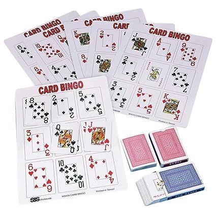 Amazon Com S S Worldwide Playing Card Bingo Game Sports Outdoors