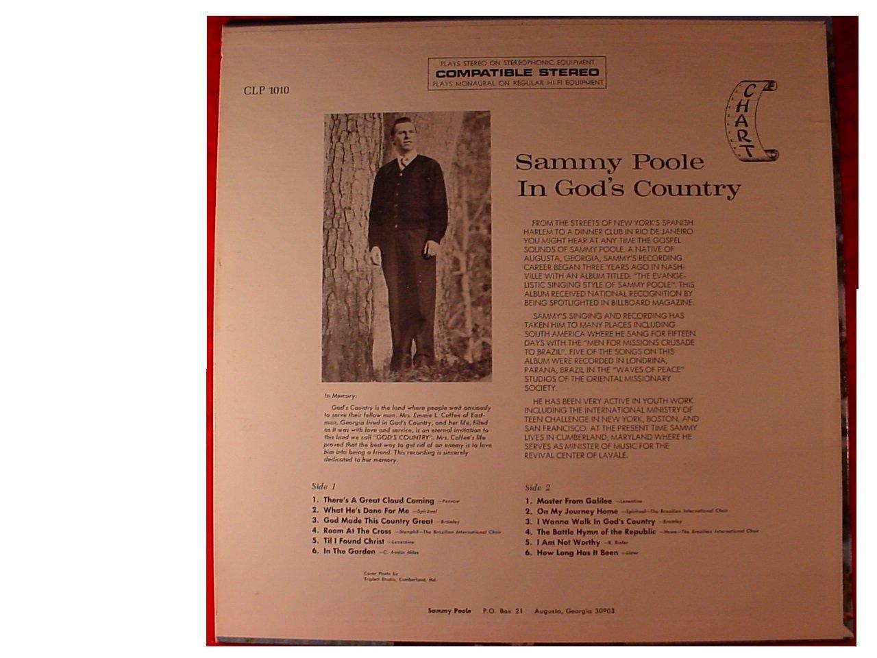 SAMMY POOLE - Sammy Poole in God\'s Country Vinyl Lp - Amazon.com Music