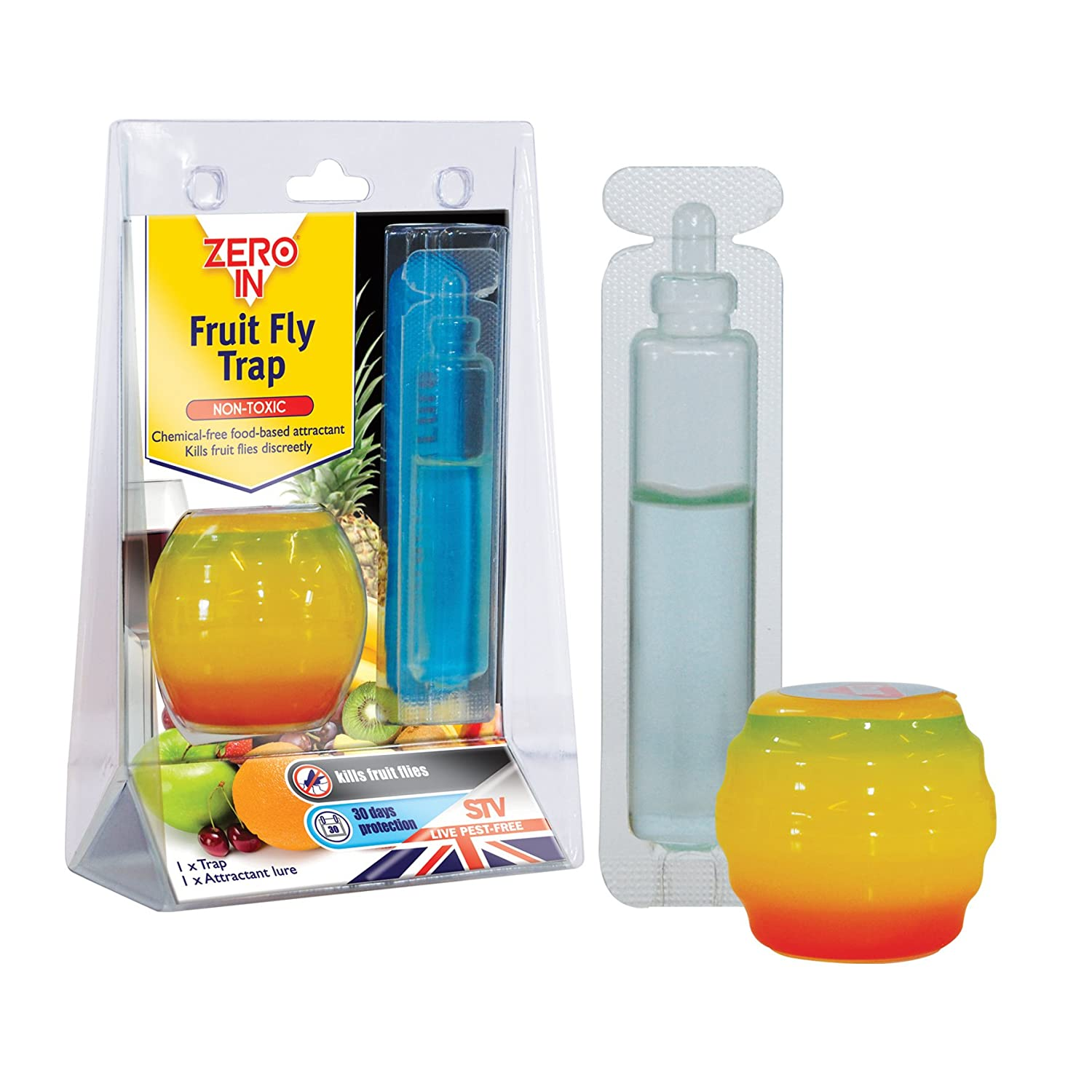 Zero In Fruit Fly Trap (Apple-Shaped, Non-Toxic, Insect Trap to ...