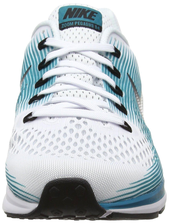 Nike Men's Air Zoom Pegasus 34 White / Black - Blustery 880555-101 (11.5) by NIKE (Image #4)