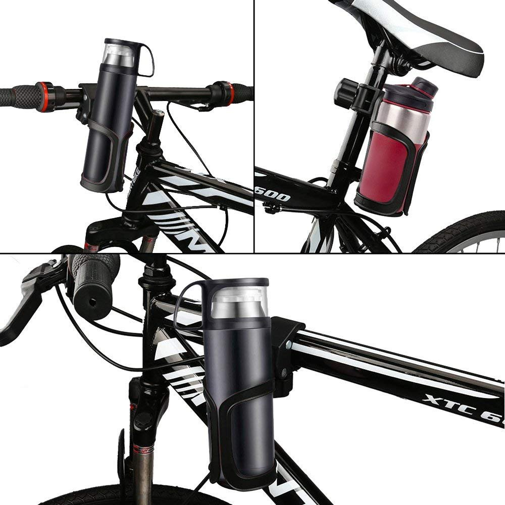 Cycling Bicycles and Wheelchairs AumoToo Stroller Cup Holder Universal 360 Degrees Rotation Baby Pushchair Bottle Organizer Bike Drink Water Bottle Cage for Stroller Bugggies