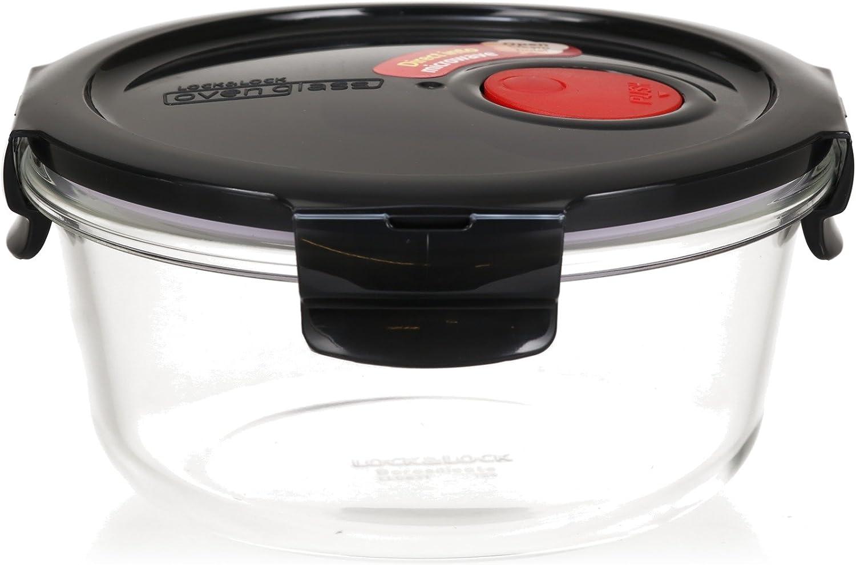 Contenedor Cuadrado con Tapa para Horno 1000ml Microondas y Congelador Lock /& Lock Recipiente para Alimentos de Vidrio Apto para Microondas